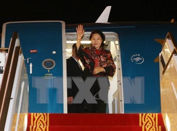 Top legislator arrives in UAE for female parliament speakers summit hinh anh 1