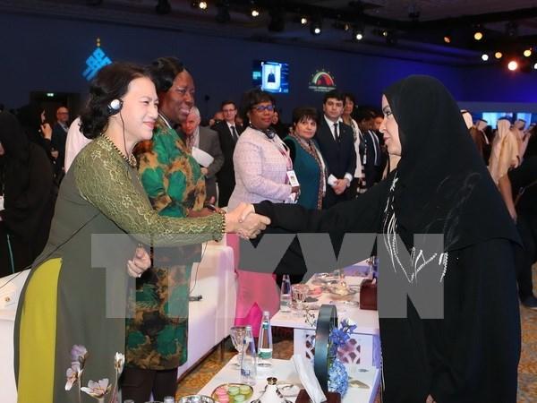 Top legislator ends UAE trip for female parliament speakers summit hinh anh 1