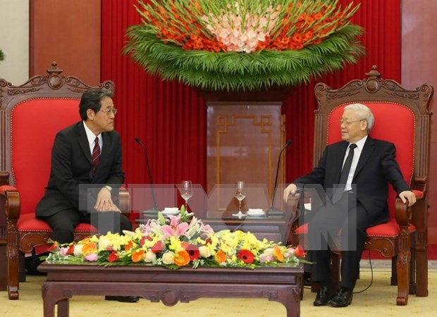 Vietnam considers Japan top partner: Party chief hinh anh 1