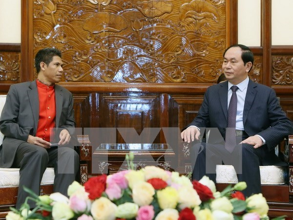 President urges enhanced cooperation with Timor Leste hinh anh 1
