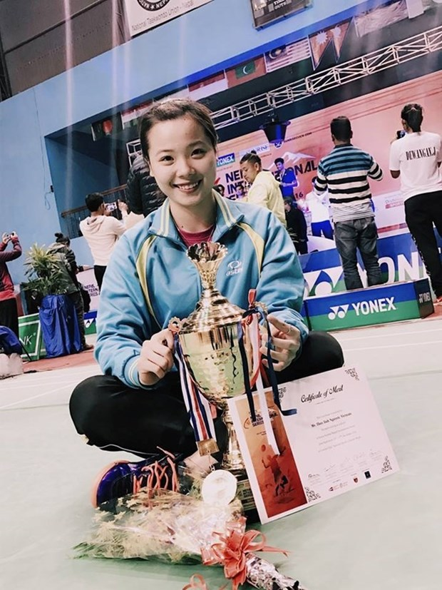 Nguyen Thuy Linh wins Nepal badminton tourney hinh anh 1