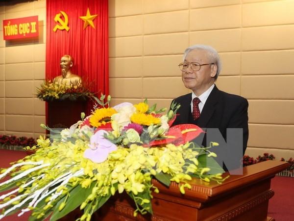 Party chief praises military intelligence force's achievements hinh anh 1