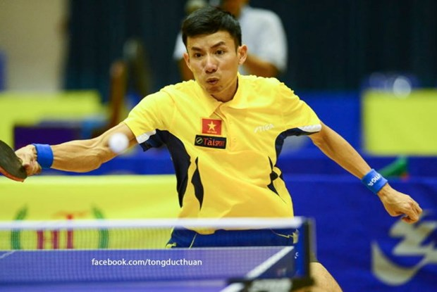 Vietnam wins men's team title at SEA table tennis championships hinh anh 1
