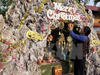 Parishioners in Ninh Binh eagerly prepare for Christmas hinh anh 1