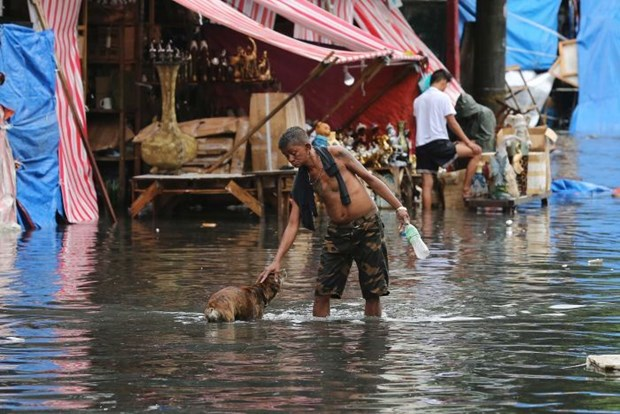 Typhoon Nock-Ten hits Philippines, killing three hinh anh 1