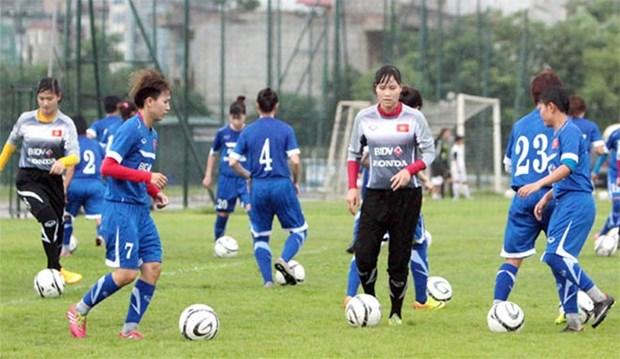 Vietnam jump up in women football ranking hinh anh 1
