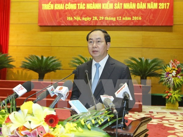 President attends procuracy sector's year-end meeting hinh anh 1