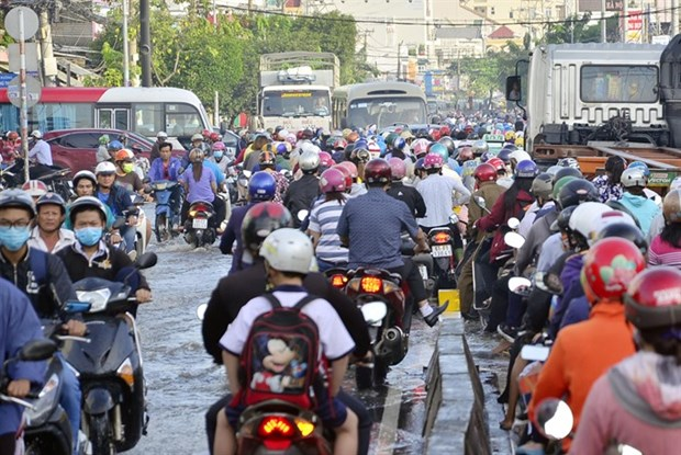 HCM City tries to unclog streets in run-up to Tet hinh anh 1