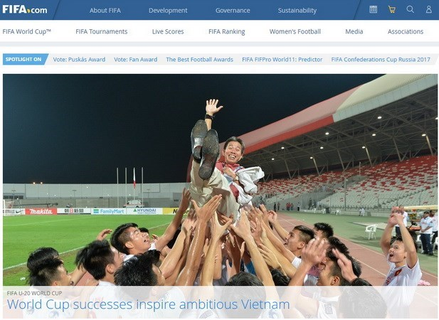 FIFA lauds Vietnam football's achievements hinh anh 1