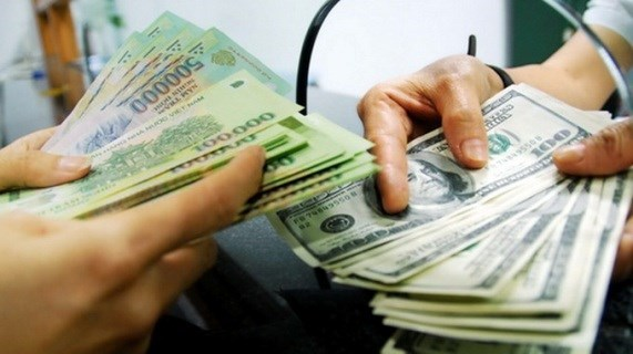 Reference exchange rate drops 1 VND on year's first working day hinh anh 1