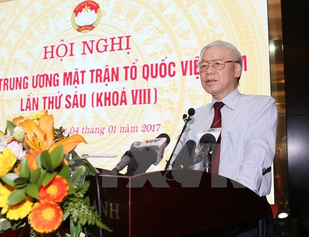 Party chief: VFF needs to urge public involvement in Party building hinh anh 1