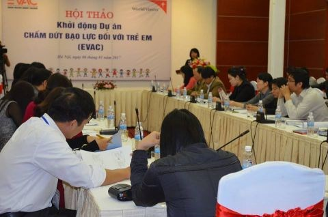 Project to end violence against children kicks off hinh anh 1