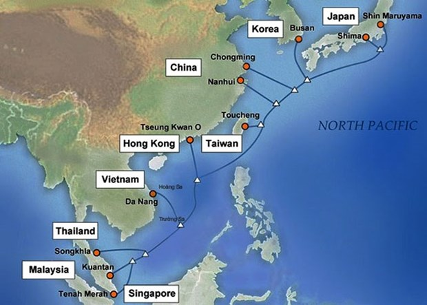 Submarine internet link completed hinh anh 1