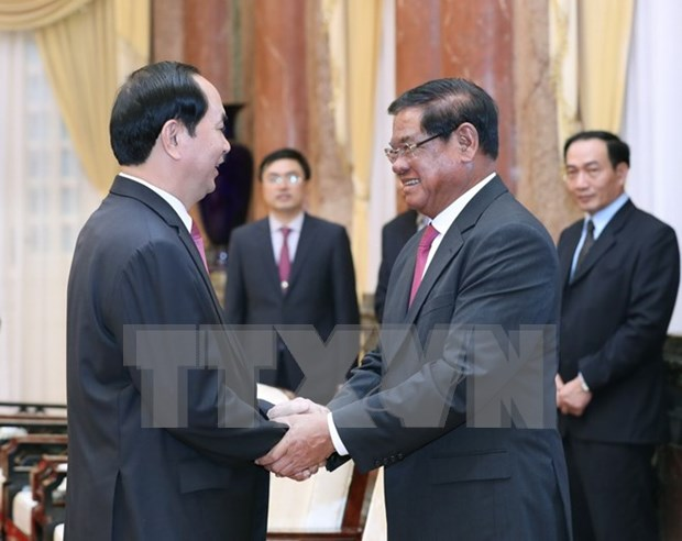 President lauds Vietnam-Cambodia security ties hinh anh 1