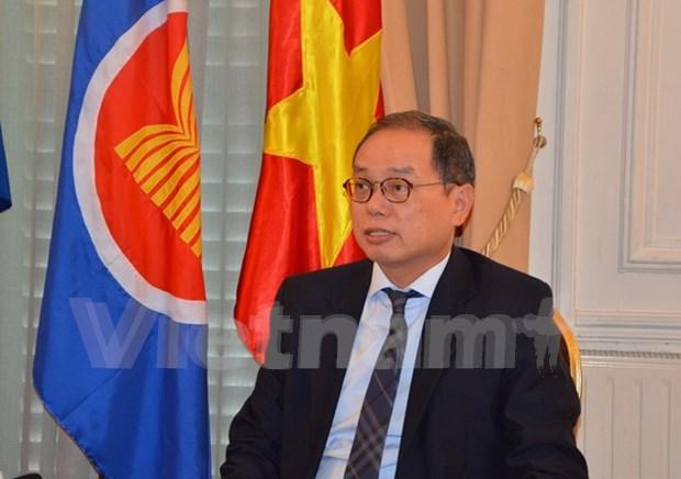 Vietnamese ambassador receives insignia of France's Choisy le Roi hinh anh 1