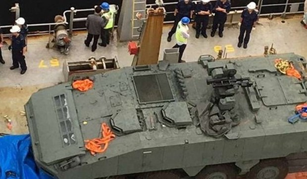 Hong Kong's detention of armored vehicles contrary to law hinh anh 1