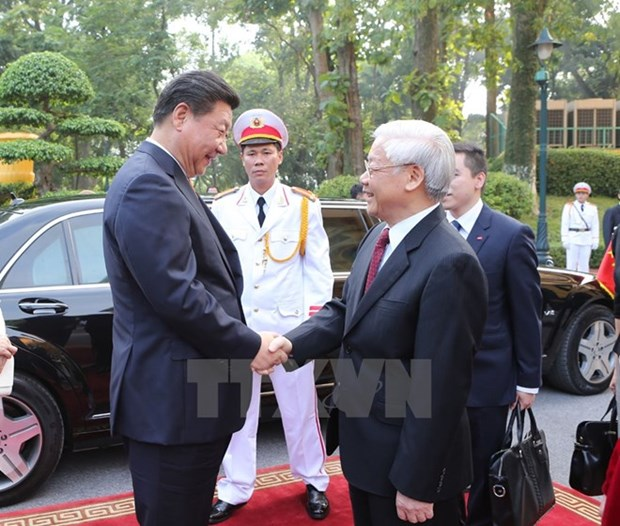 Chinese press highlights Vietnamese Party chief's visit hinh anh 1