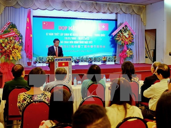 Vietnam-China 67-year ties marked in HCM City ceremony hinh anh 1
