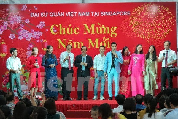 Vietnamese expats in Singapore gather to celebrate Tet hinh anh 1