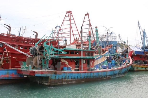 Indonesia returns 165 Vietnamese fishermen ahead of Tet hinh anh 1
