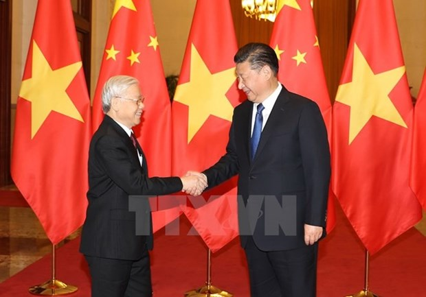 Leaders exchange messages on Vietnam-China ties anniversary hinh anh 1