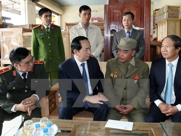 President pays Tet visit to Hai Phong hinh anh 1