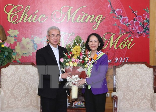 Party official hosts Tet reception for religious dignitaries hinh anh 1