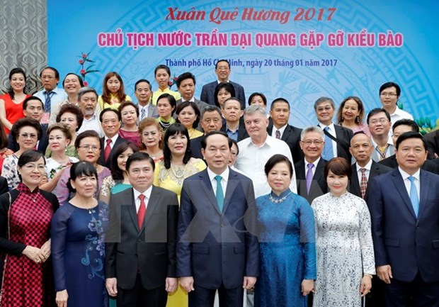 President Tran Dai Quang praises overseas Vietnamese's contributions hinh anh 1