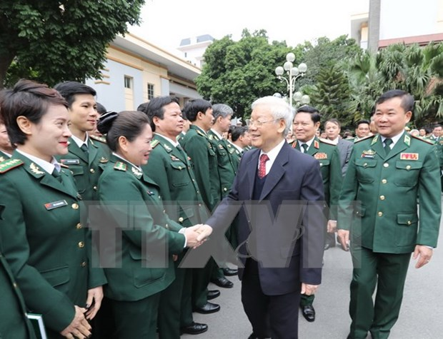 Party chief lauds border guard force's efforts hinh anh 1