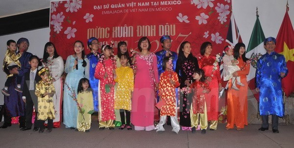 Vietnamese nationals in Mexico celebrate Tet hinh anh 1