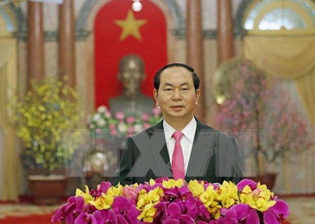 President Tran Dai Quang extends Lunar New Year greetings hinh anh 1