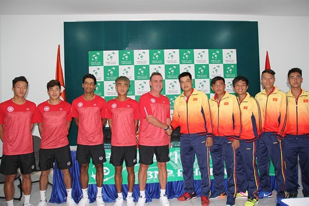 Davis Cup: Vietnam look to beat Hong Kong hinh anh 1