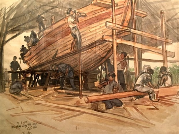 National museum exhibits historic sketches hinh anh 2