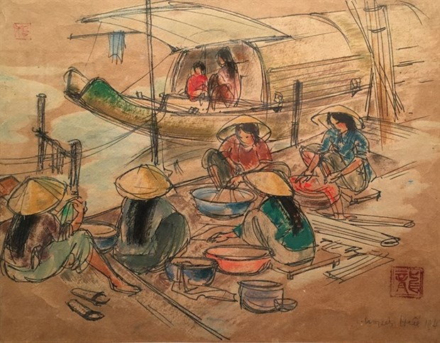 National museum exhibits historic sketches hinh anh 3