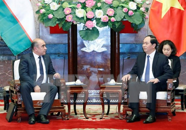 President urges Vietnam, Uzbekistan to tap cooperation potential hinh anh 1