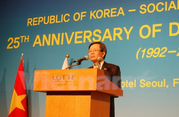 Vietnam-RoK celebrate 25 years of ties hinh anh 1