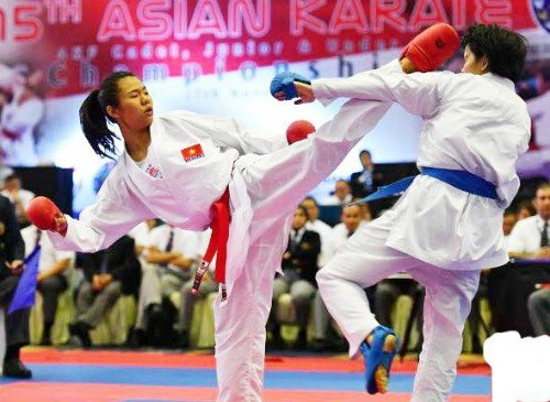 VN karatedo target four golds at SEA Games hinh anh 1
