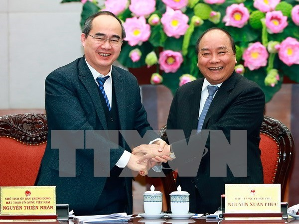 Government, Fatherland Front review partnership hinh anh 1