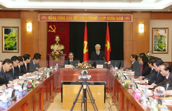 Party chief lauds economic commission's achievements hinh anh 1
