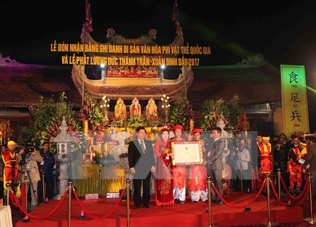 Tran Thuong Temple festival named national intangible heritage hinh anh 1