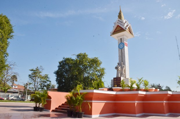 Vietnam-Cambodia friendship monument in Takeo restored hinh anh 1