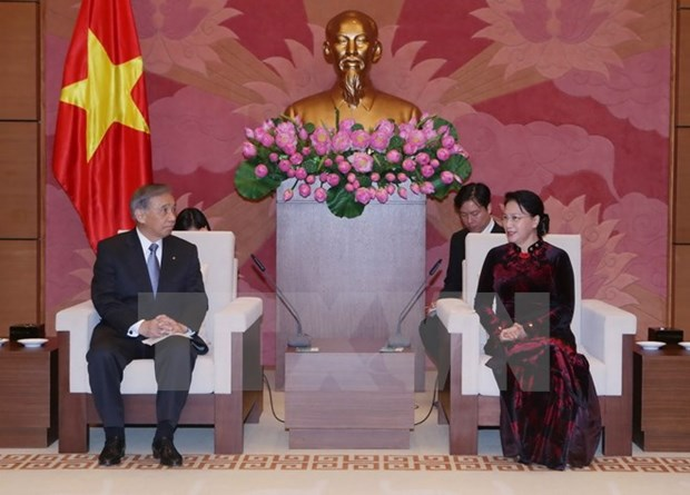 NA Chairwoman meets Governor of Japanese prefecture hinh anh 1