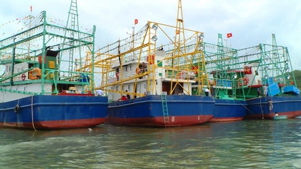 Binh Dinh hands over eight fishing ships to seamen hinh anh 1