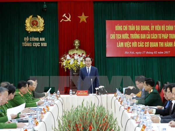 President highlights improving execution of sentences hinh anh 1