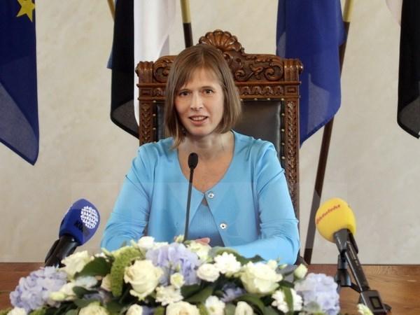Estonian President seeks enhanced cooperation with Vietnam hinh anh 1