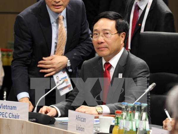 Deputy PM meets top diplomats of UK, US, Brazil on G20 meeting sidelines hinh anh 1