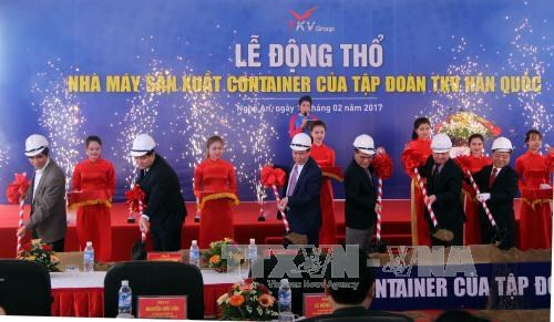 Work on container factory starts in Nghe An hinh anh 1