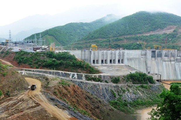 First WB-loaned hydropower plant put first turbine into use hinh anh 1