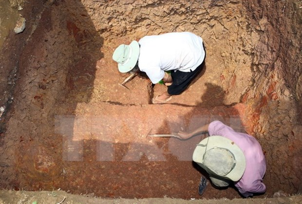 Champa artifact unearth in Quang Ngai province hinh anh 1