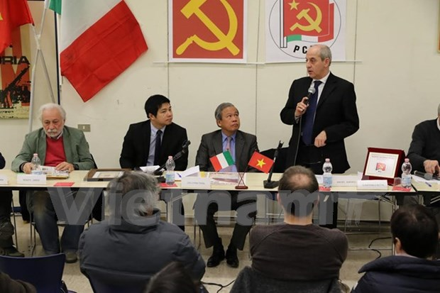 Italian Communist Party hosts workshop on Vietnam's revolution hinh anh 1